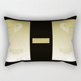 Tangent Metallic Gold Rectangular Pillow