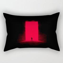Red Monolith Rectangular Pillow