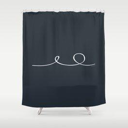 Deep Water - Minimal FS - by Friztin Shower Curtain