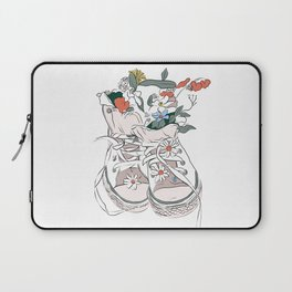 Walking with Flowers Laptop Sleeve