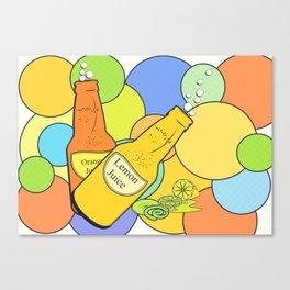 Lemon juice color Canvas Print