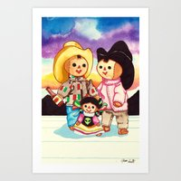 Mexican Dolls Art Print