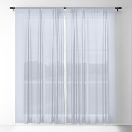 From Crayon Box – Periwinkle Blue - Pastel Blue Solid Color Sheer Curtain