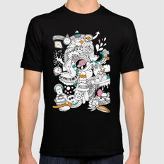 My Happy Doodle Black Mens Fitted Tee MEDIUM