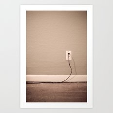 chasing the lampcords Art Print