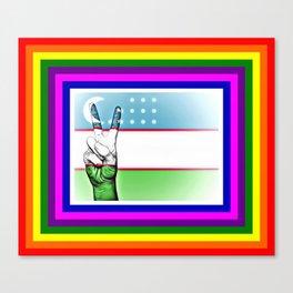 Uzbekistan World Peace Flag Canvas Print