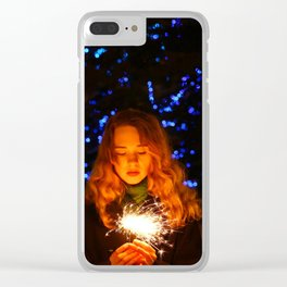 new year miracle Clear iPhone Case