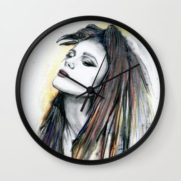 The Lone Raven Wall Clock