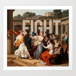 Fight. Art Print