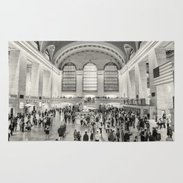 Grand Central Terminal monochrome Rug
