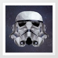 LOW POLY stormtrooper Art Print