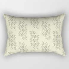 Linen Leaves Rectangular Pillow