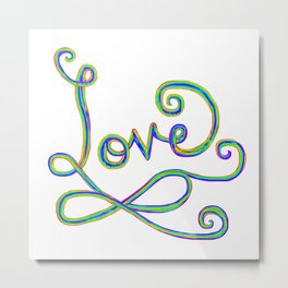 Rainbow Love Infinity Sign Metal Print