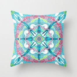 Synchronized Tentacle Throw Pillow