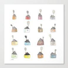 les petites maisons douillettes Canvas Print