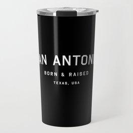 San Antonio - TX, USA (Black Arc) Travel Mug