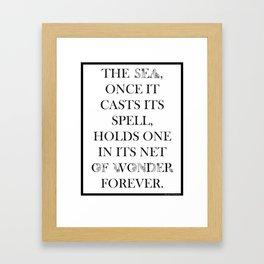 Sea of Wonder - Jacques Cousteau Framed Art Print