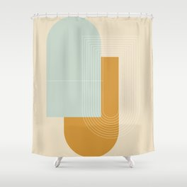 Contemporary Composition 06 Shower Curtain