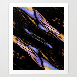 Dark liquid Art Print