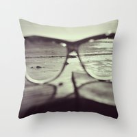 sunglasses Throw Pillows featuring sunglasses by Nikole Lynn Photography