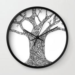 Tree Doodle Wall Clock
