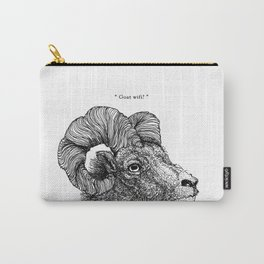 """TYPOANIMAL -  """"Goat wifi?"""" Carry-All Pouch"""