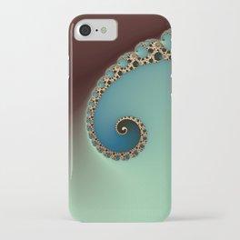 Teal Loop - Fractal Art  iPhone Case