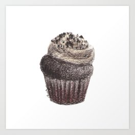 Chocolate Mini Cupcake Art Print