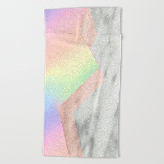 Unicorn Texture on Carrara Italian Marble Beach Towel
