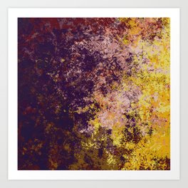 Abstract Colorful Brown Yellow Camouflage Pattern Art - Padal Art Print