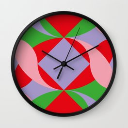 Two red squares and a Squared hole Wall Clock