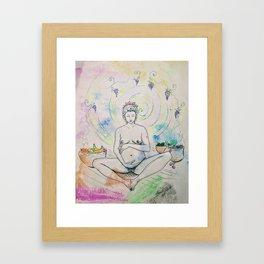 Pregnancy Serenity Framed Art Print