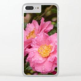 Beautiful camellia Clear iPhone Case