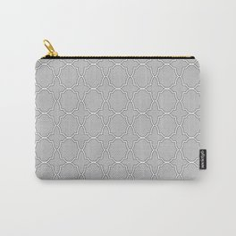 Silver Grey Quatrefoil Pattern Carry-All Pouch