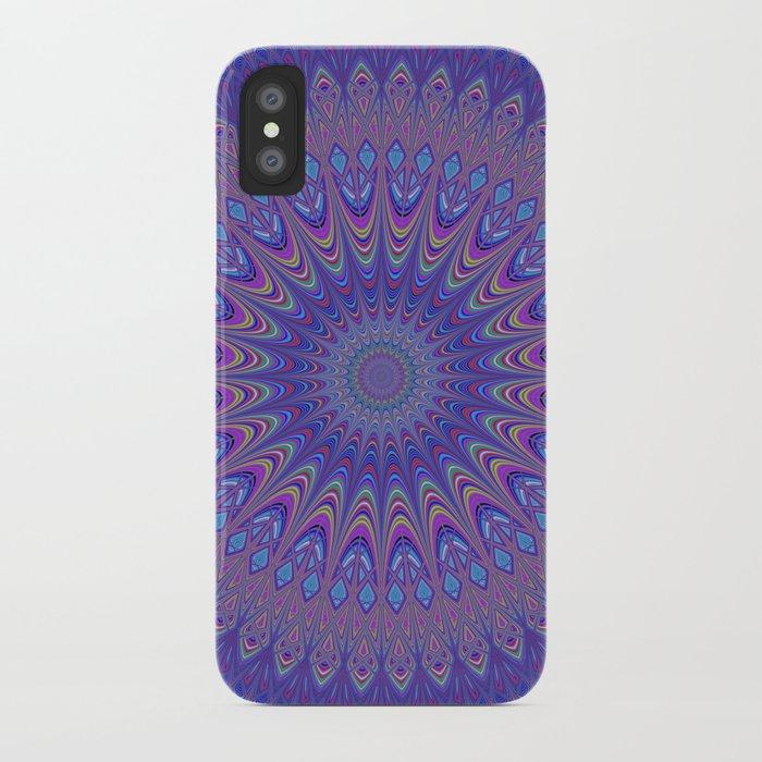Purple mandala iPhone Case