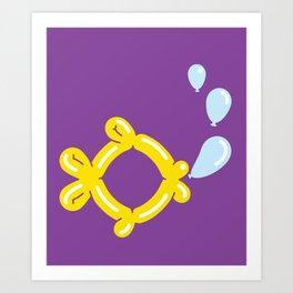 Ballon fish Art Print
