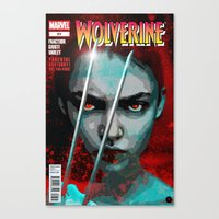 book cover Canvas Prints featuring Comic Book Cover by iArtMike