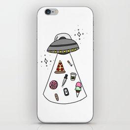 UFO Collecting Junk iPhone Skin