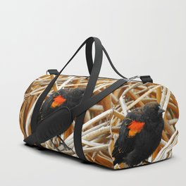 Juvenile Male Redwing Blackbird Duffle Bag