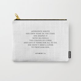 AUTARCHY (White Background) Carry-All Pouch