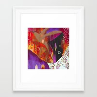 "flora bowley Framed Art Prints featuring ""Reflect You"" Original Painting by Flora Bowley by Flora Bowley"