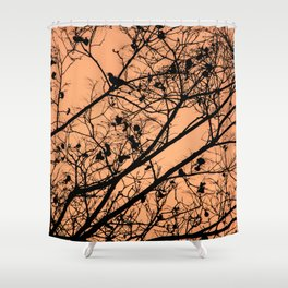 Sunset silhouettes Shower Curtain