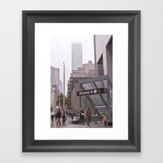 lost down-town... Framed Art Print