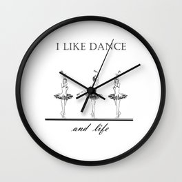 three ballerinas dancing  ( https://society6.com/vickonskey/collection ) Wall Clock