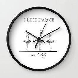 three ballerinas dancing  ( https://society6.com/vickonskey/collection ) Wall Clock