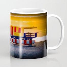 Ocean drive miami beach florida Miami rescue color union of states americas Coffee Mug