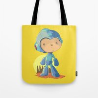 megaman Tote Bags featuring Megaman by Rod Perich