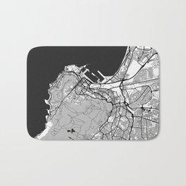 Cape Town Map Gray Bath Mat