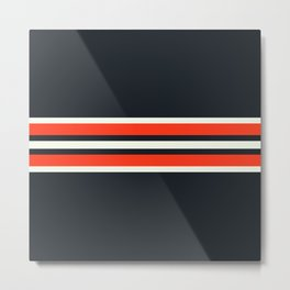 Masanori - Classic Racing Retro Stripes Metal Print
