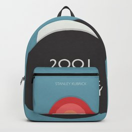 2001 a Space Odyssey - Stanley Kubrick, minimal movie poster, rétro film playbill, sci-fi Backpack